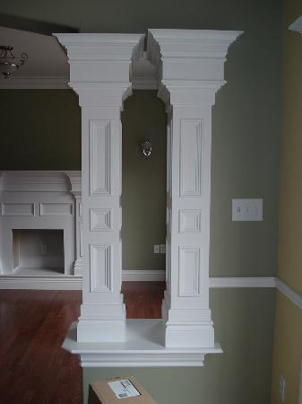 Post Construction Interior Pillars - Finished Product .